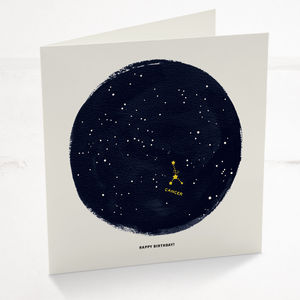 Cancer Horoscope Astrology Star Sign Birthday Card - view all sale items