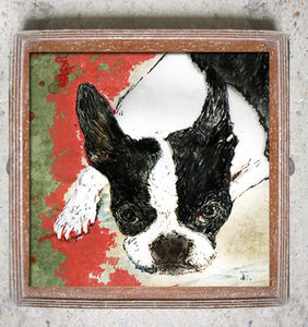 Boston Terrier Limited Edition Signed Print - best of contemporary art