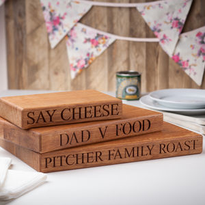 Personalised Chopping Board - chopping boards