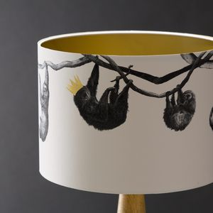 Sloths Hand Gilded Lampshade - bedroom