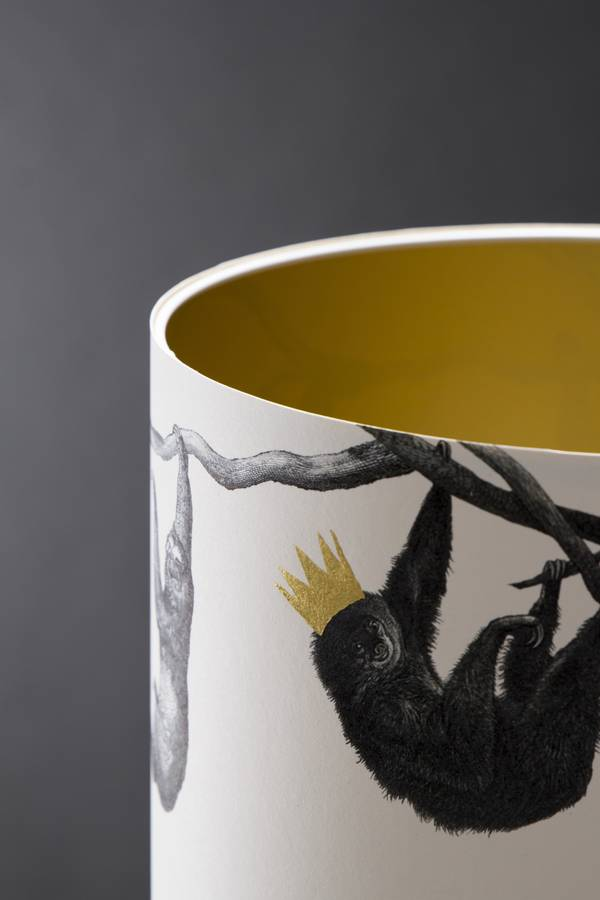 Sloths Hand Gilded Lampshade By Mountain Amp Molehill