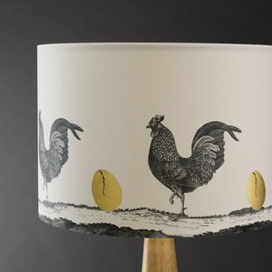Which Came First Hand Gilded Lampshade - living room