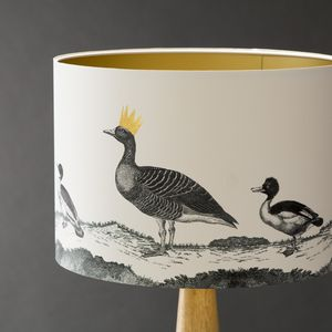 Ducks Hand Gilded Lampshade - living room