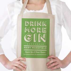 Drink More Gin Apron - aprons