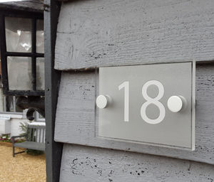 Acrylic House Number Sign - art & decorations