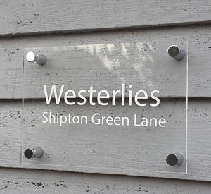Acrylic House Name Sign - home accessories