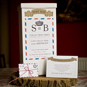 Vintage Inspired Handmade Wedding Post Box - room signs