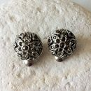 Silver Tone And Marcasite Earrings