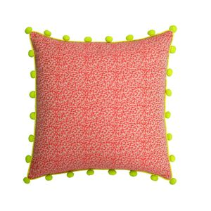 Pom Pom Cushion In Pink