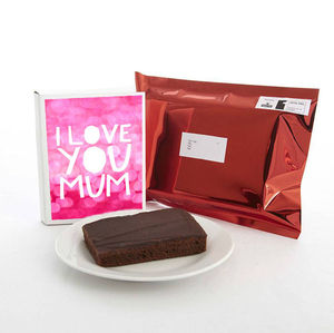 I Love You Mum Cake Card - mother's day cards