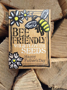 Father's Day Bee Friendly Wild Flower Seeds - seeds & bulbs