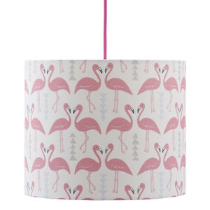 A Handmade Flamingo Flourish Lamp Shade - children's lighting