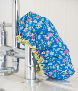 Shower Cap In Isabel Cobalt