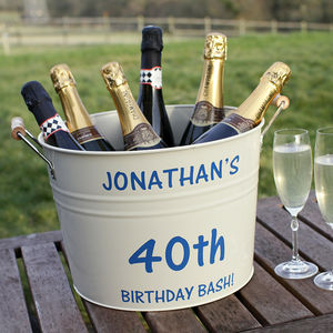 Personalised Birthday Bucket - 40th birthday gifts