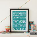 Personalised our destinations Print
