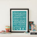 Personalised Classic Destination Print
