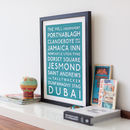 Personalised bespoke destination print