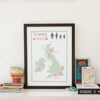 Personalised Family favourite places