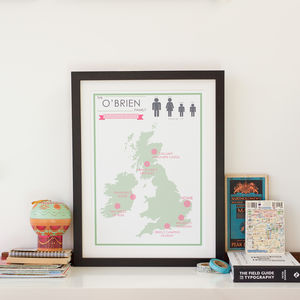 Personalised Favourite Places Print - gifts for mothers