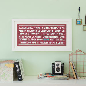 Personalised 'Home' Destination Print