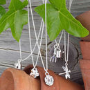 Charms on Silver necklace