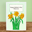 Mothers day card - daffodils