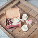 Maileg Pink Metal Suitcase With Cakes And Cups