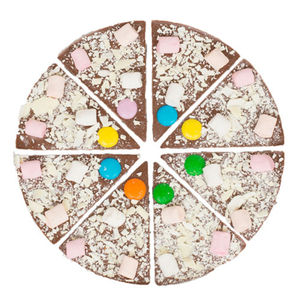 Seven Inch Milk Chocolate Pizza With Marshmallows - novelty chocolates