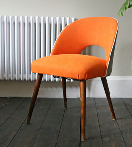 Vintage 1950's Occasional Chair In Orange - furniture