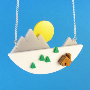Mountain Sunset Necklace - necklaces & pendants