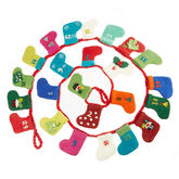 Handmade Felt Candy Advent Calendar - christmas decorations