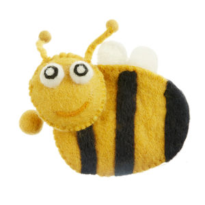 Handmade Felt Bee Purse
