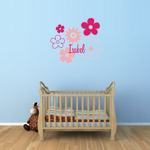 Personalised Flower Wall And Door Sticker