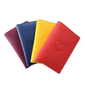 Leather Oyster Card Holder With Heart Embossing - bags & purses