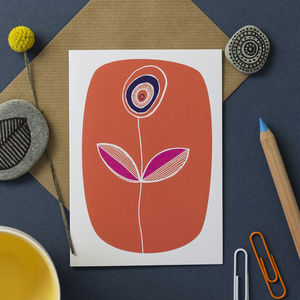 Orange Flower Card