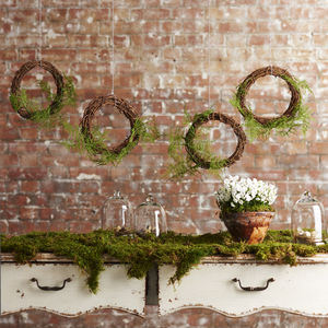 Woodland Wedding Fern Wreath - spring styling