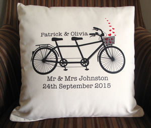 Personalised Wedding / Anniversary Cushion - living room