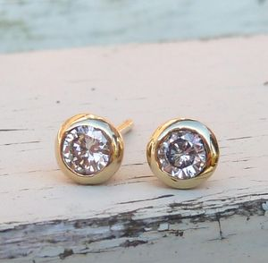 Diamond Earrings 18ct Yellow Gold - earrings