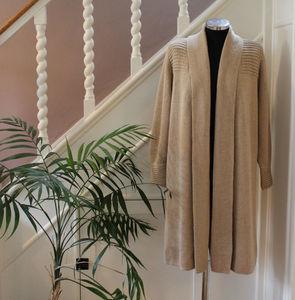 Knitted Alpaca Coat - women's fashion