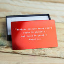 Personalised Anodised Metal Wallet Insert Card