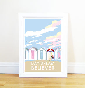 Daydream Believer Vintage Style Seaside Poster