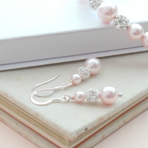 Blush Pink Pearl Earrings - earrings
