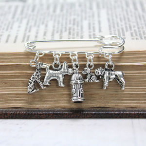 Dog Lovers Brooch - pins & brooches
