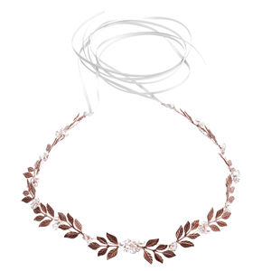 Rose Gold Laurel Leaf Wreath - women's jewellery