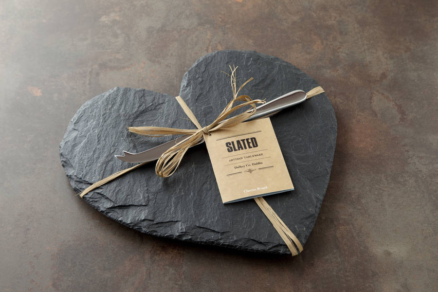 ... slate heart cheese board and knife set · hot y gift ... & Cheese Board Gift Set - Swiss Cheeses