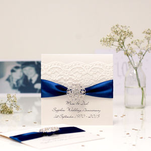 Opulence Sapphire Wedding Anniversary Card - wedding, engagement & anniversary cards