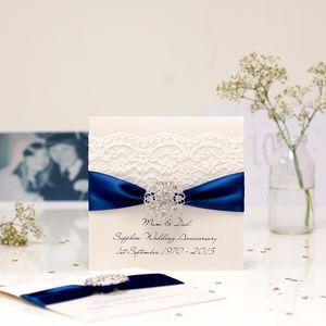 Opulence Sapphire Wedding Anniversary Card