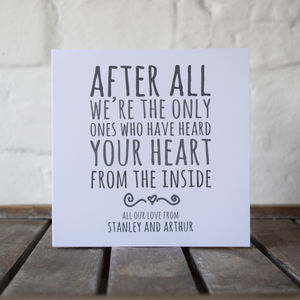 'Heard My Heart' Personalised Mother's Card - last-minute cards & wrap
