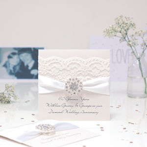 Opulence Diamond Wedding Personalised Anniversary Card - shop by occasion