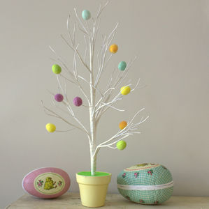 Easter Tree With Pastel Eggs